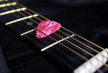 Cordes de guitare et mediator