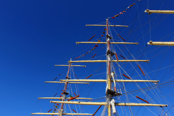 Detail of some masts