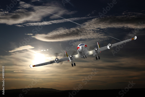 Super Constellation im Landeanflug
