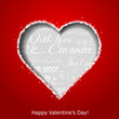 Abstract heart on red paper background. Valentines day greeting
