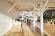 interior big room or loft