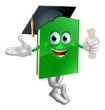 Graduate education book mascot