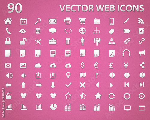 90 Vector minimal icons