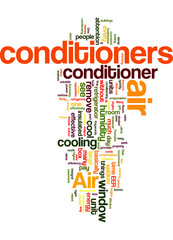 Air conditioners homes Concept