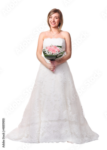 bride on white