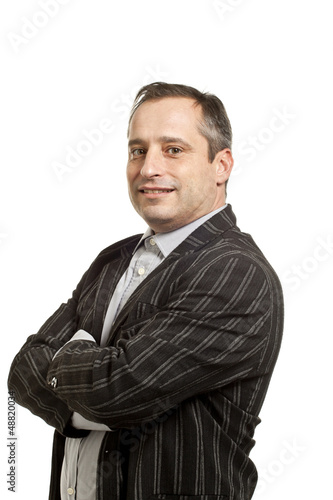 portrait man on white background