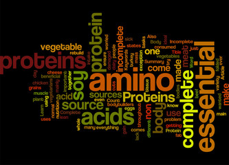 All About Protein Concept