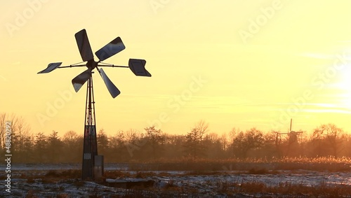 Sunset windmill