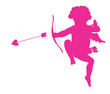 Shooting cupid vector silhouette