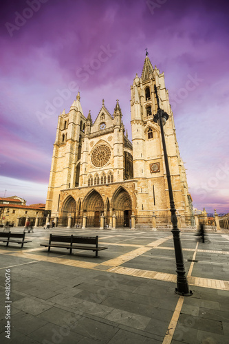 Gothic cathedral of Leon, Castilla Leon, Spain