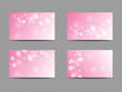 Set of pink business cards