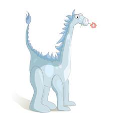 Cute cartoon dragon. Vector illustration.