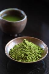 Bowls of Matcha Green Tea