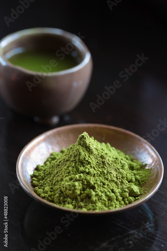 Bowls of Matcha Green Tea