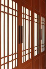 Wood wardrobe doors