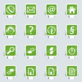 webdesign Papercut icon poster