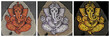 collection of painted images of hindu deity  Ganesha