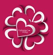 Valentines day wedding card creative vector background