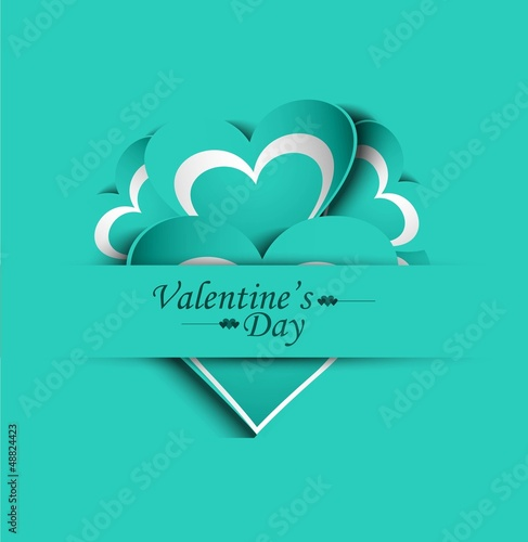 Valentines day wedding colorful love card background illustratio