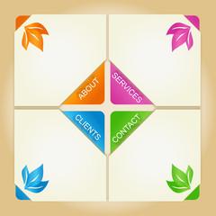 Four colored squares