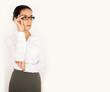 Geschäftsfrau mit Brille