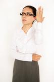 engagierte Geschäftsfrau