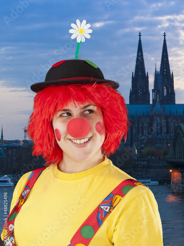 Clown in Köln