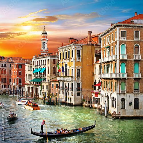 Zdjęcia na płótnie, fototapety na wymiar, obrazy na ścianę : Venetian sunset