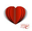 peel off valentine's day heart, vector illustration.