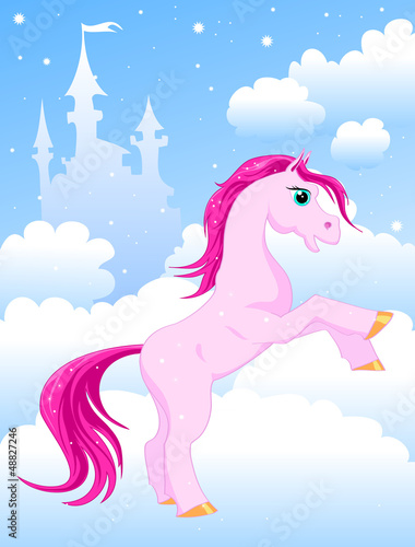 Poster Pony magic pink horse