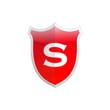 Secure shield letter S.