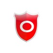Secure shield letter O.