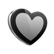 Black Heart Like Glossy Pad Or Mobile Phone Talk Cloud
