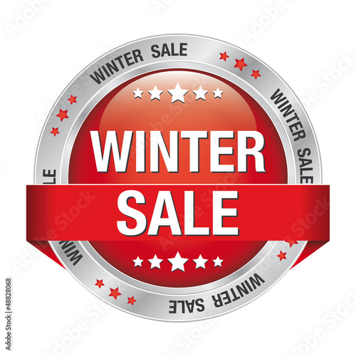 sale winter button red silver