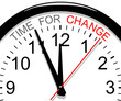 Concept clock. Time for change