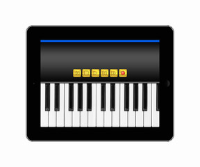 Tablets pc with music keyboard