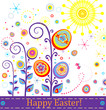 Abstract greeting easter card