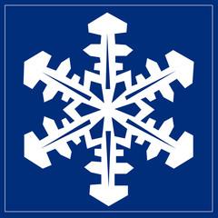 Schild blau - Schneeflocke
