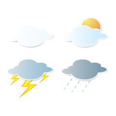 collection of clouds, Weather icon for design.