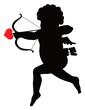 Cupid vector silhouette