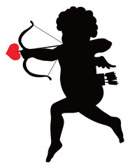 Cupid vector silhouette
