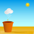 flowerpot vector illustration part two