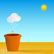 flowerpot vector illustration part two