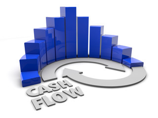 Graph - Cash Flow - blue