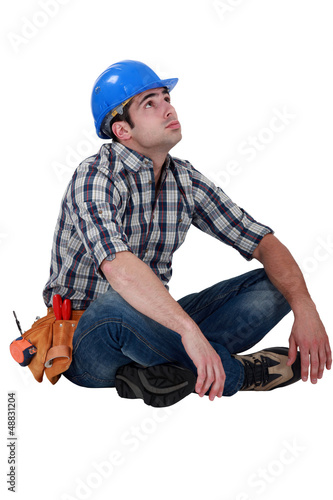 craftsman sitting on the floor