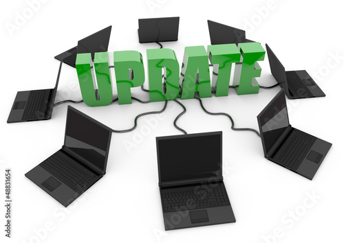 hardware software update internet - green -