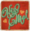 hand-lettered vintage valentines card (vector)