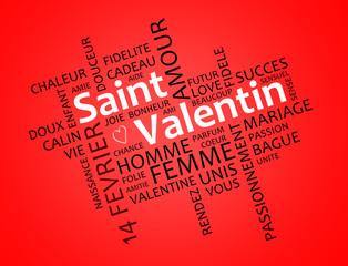 Saint Valentin oblique