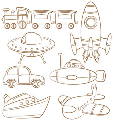 Doodle Transportation Icons