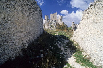 the castle of Rocca Calascio